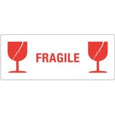 Waarschuwingsetiket Fragile 2x Glas